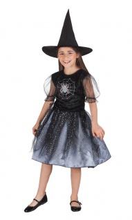 Magier Zauberer Hexenmeister Kostüm Hexe Kinder Mädchen Halloween Spinne KK