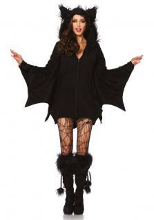 Karneval Klamotten Kostüm Fledermaus Dame Luxus Karneval Halloween Damenkostüm