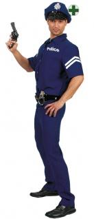 Polizei Kostüm Herren mit Polizeimütze KK