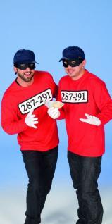 Ganoven Kostüm Gangster Räuber Shirt rot Herrenkostüm für Panzerknacker Fans KK