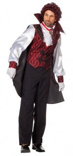 Vampir Dracula Kostüm Herren Umhang Deluxe Graf Dracula Halloween Karneval KK