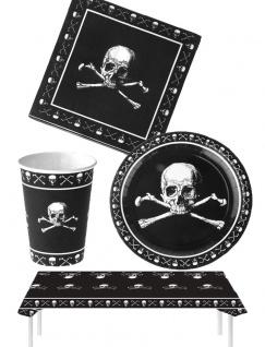 Halloween Party Set Totenkopf mit Tischdecke KK