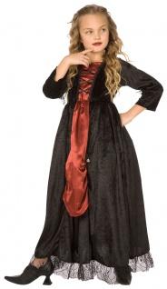 Vampir Kinder-Kostüm Vampirkostüm Halloween Vampir Mädchen-kostüm KK