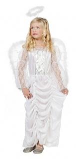 Engel Kostüm Kinder Engelskleid lang Weihnachten Mädchen-Kosüm Weihnachtsengel K