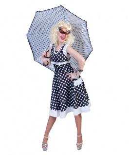 Rock n Roll Kostüm Damen Rockabilly Kleid 50er Jahre Fasching Karneval KK