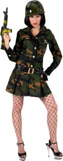 Soldat Kostüm Damen Soldatin sexy Soldatenkostüm Camouflage Militär Armee Army K