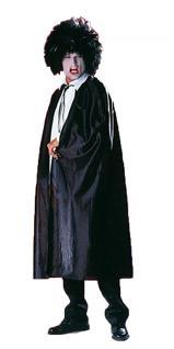 Karneval Klamotten Kostüm Umhang schwarz Halloween Halloween Herrenkostüm