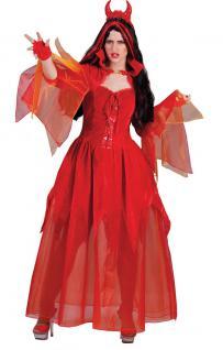 Teufel Kostüm Damen Halloween Luxus Teufel Damenkostüm KK