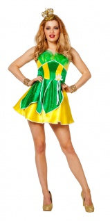 Froschkönigin Kostüm Damen sexy Frosch-königin Kleid Märchen-Kostüm Damen-Kostüm