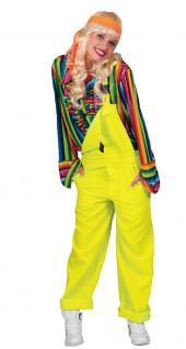 Karneval Klamotten Kostüm Latzhose gelb Herren Damen Kostüm Karneval Unisex