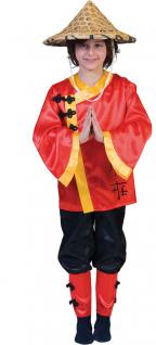 Karneval Klamotten Kostüm Chinese Junge Mädchen Karneval Asien Kinderkostüm