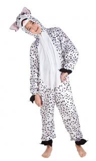 Dalmatiner Kostüm Kinder Plüsch 101 Dalmatiner Overall Tier Hund Kinderkostüm KK