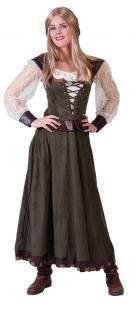 Kostüm Robin Hood Dame Lady Marian Kleid Kostüm Mittelalter Damenkostüm KK