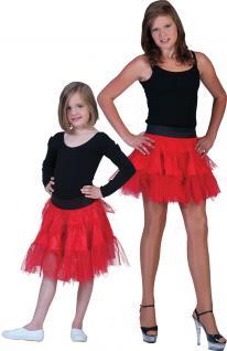 Petticoat Kinder Tüllrock Kinder Petticoat Unterrock Tütü rot weich Länge 35 cm