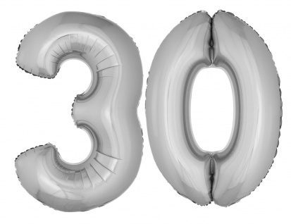 Folienballon Zahl Luftballon XXL Geburtstag Jubiläum Party 30 Jahre Dekoration K