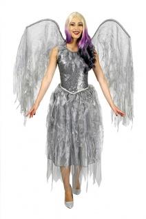 Engel Kostüm Engelkostüm Damen-kostüm Weihnachtskostüm Kleid mit Flügel KK