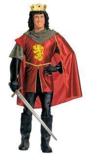 Ritter Kostüm Herren Mittelalter König Arthur Herrenkostüm Fasching Karneval KK
