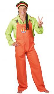 Karneval Klamotten Kostum Latzhose Orange Herren Damen Kostum
