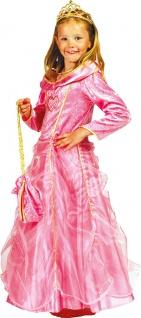 Prinzessin Kostüm Mädchen Prinzessin-Kleid Kinder rosa gold Tasche Karneval KK