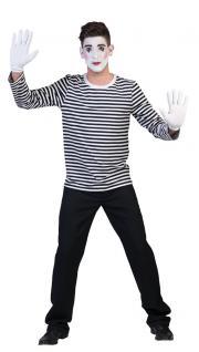 Kostüm Clown Harlekin Pierrot Pantomime Herren Damen schwarz-weiß gestreift KK