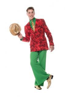 Jacke Herren Karneval bunt Blumen Party Kostüm Garde Show Fasching KK