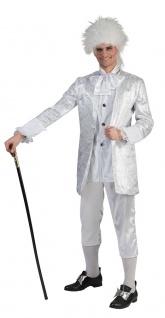 Rokoko Barock Kostüm Herren Edelmann Graf silber Komplettkostüm Fasching KK