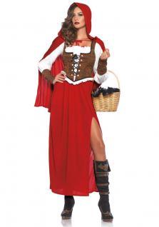 Karneval Klamotten Kostüm Rotkäppchen Dame Luxus Karneval Märchen Damenkostüm