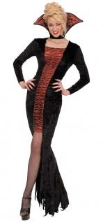 Gothic Vampir Kostüm Damen mit Stehkragen sexy Vampirin Halloweenkostüm KK