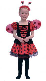 Marienkäfer Kostüm Kinder Kleid Mädchen Marienkäfer-Flügel Haarreif Kinderkostüm