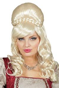 Gräfin Perücke Rokoko blond Langhaarperücke Hochgesteckt Edelfrau Barock Damen