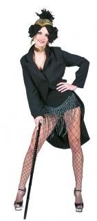 Damenfrack schwarz Frack schwarz Karneval Damen-Kostüm KK