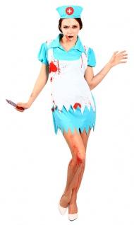 Horror Krankenschwester OP Damen Zombie-Kostüm mit Blut Halloween Fasching KK