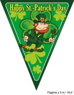 Karneval Klamotten Wimpelkette St. Patrick St. Patricks Day Ireland Irisch