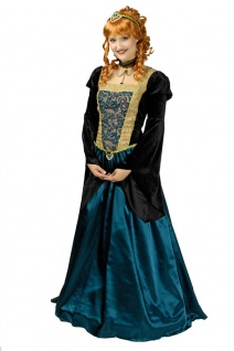 Burgfräulein Kostüm Damen Mittelalter Kleid Schlossherrin Ritterdame Fasching KK