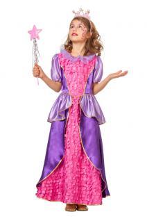 Prinzessin Kostüm Mädchen rosa lila Prinzessin Kleid Kinder Märchen-Prinzessin K