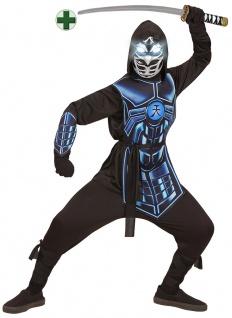 Ninja Samurai Kostüm Kinder Maske leuchtenden Augen 3 Roboterstimmen Schwert KK