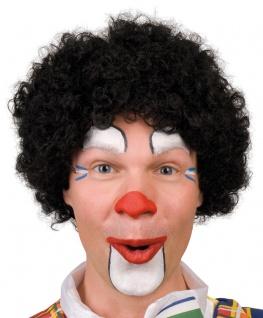 Karneval Klamotten Kostüm Perücke Clown Locken schwarz Zubehör Zirkus Karneval
