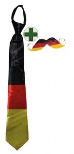 Krawatte Deutschland WM Frauen Fußball 2019 Fan-Schnurrbart KK