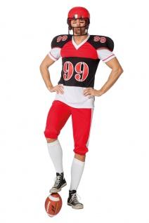 American Football Kostüm Herren Quarterback Rugby Spieler USA Karneval Fasching