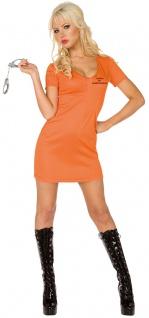Sträfling Kostüm Damen orange Alcatraz Sträflingskostüm Gefangene Haftling KK