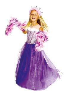 Prinzessin Kostüm Kinder Märchen-Prinzessin-Kleid lila silber Mädchen Karneval K