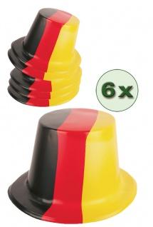 Fußball Fan-Artikel: Hut Zylinder 6 St. Plastik Deutschland EM WM Herren Fußball - Vorschau