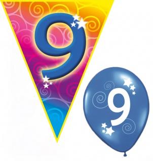Kindergeburtstag Deko Geburtstag-s Party Junge Mädchen 9 Jahr Girlanden Ballons