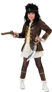 Karneval Klamotten Kostüm Piratin Mädchen Abenteuer Karneval Mädchenkostüm