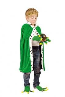 Froschkönig Kostüm Kinder Frosch-Kostüm Umhang Märchen Kinderkostüm Karneval KK