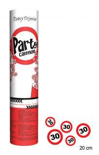 Konfetti Kanone Party Shooter Verkehrszeichen 30 Jahre (2 Stück)