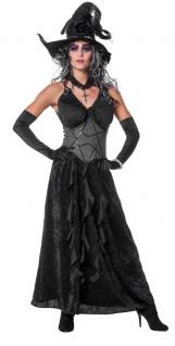 Kostüm Hexe Dame schwarze Magie Halloween Karneval Damenkostüm