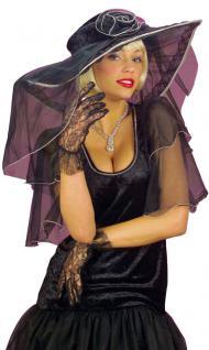 Spitzen-handschuhe Handschuh-e Spitze kurz schwarz Einheitsgroße Karneval Party