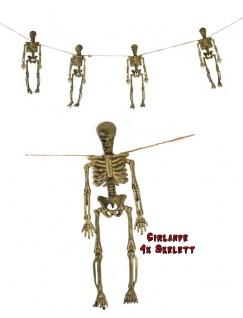 Halloween Girlande Skelett Grusel Dekoration KK