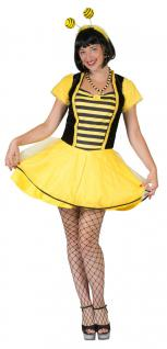Biene-n Kostüm Damen Biene Kostüm sexy Biene Kleid Damen-Kostüm Fasching KK